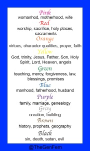 Leviticus color bookmark